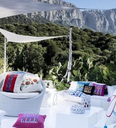 Terrasse mot fjellene