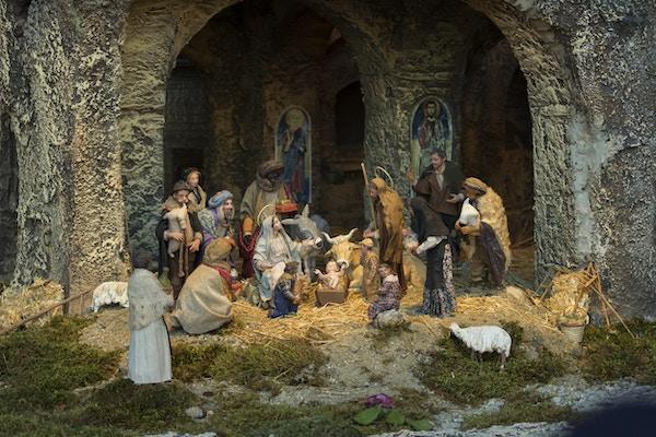 Bilde av en italiensk julekrybbe