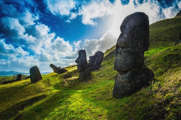 Moai-statuer på Rano Raraku, Påskeøya