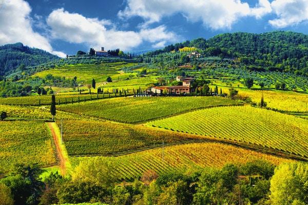 Landskap i Chianti-regionen, Toscana, Italia
