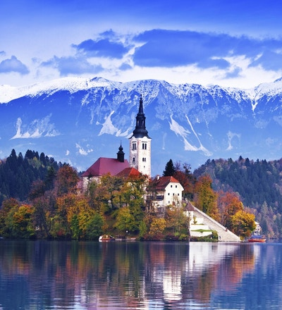 Bledsjøen i Slovenia.