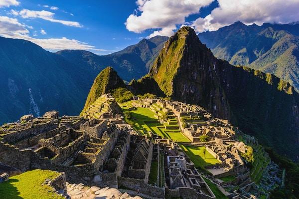 Machu Picchu, et peruansk historisk fristed i 1981 og et UNESCOs verdensarvliste i 1983. En av verdens nye syv underverk
