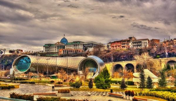 Presidentens bopel ovenfor kultursenteret i Tbilisi, Georgia