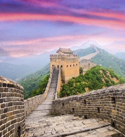 Den kinesiske mur ved  Jinshanlingseksjonen.
