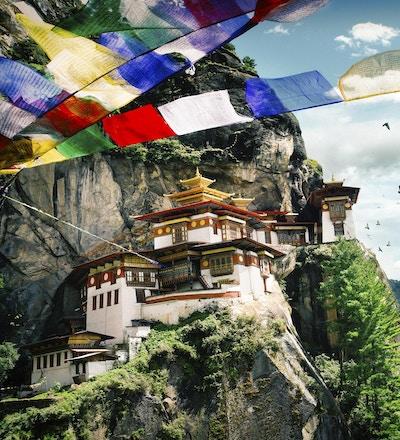 Tiger's Nest Kloster (Taktshang) i kongedømmet Bhutan