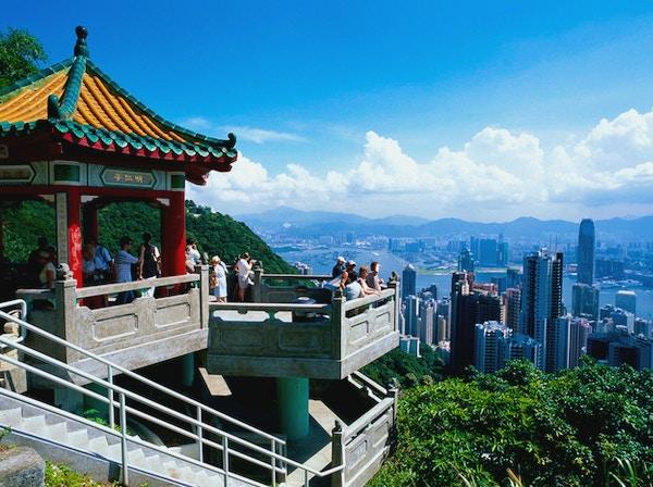 Vakker utsikt fra Victoria Peak i Hongkong.