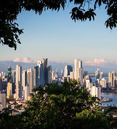 Oversiktsbilde Panama City, Panama.