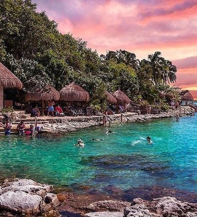 2020 mexico xcaret solnedgang vann bading