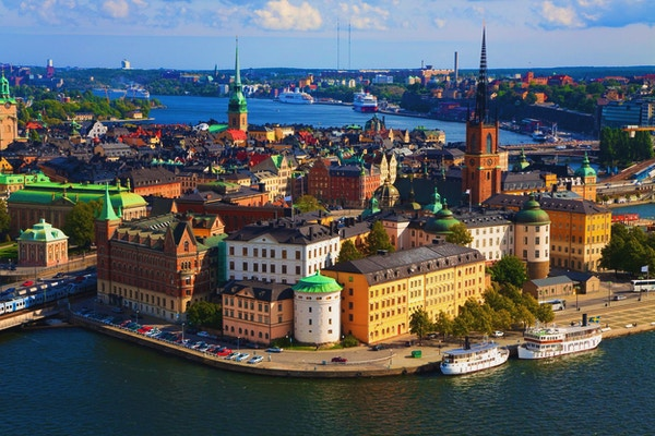Panorama av Stockholm, Sverige