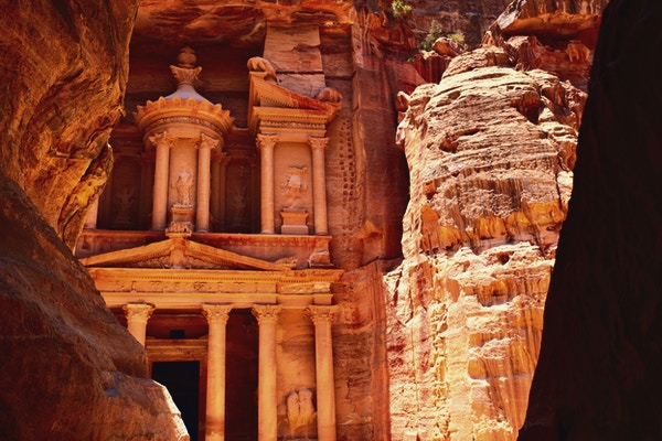 Treasury Temple at Petra (Al Khazneh), Jordan