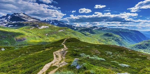 Panoramautiskt over Jotunheimen