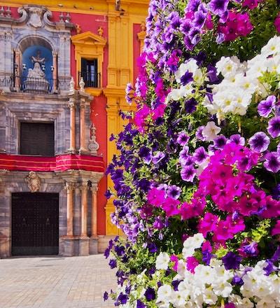 Bybilde av Malaga - hovedstad i provinsen Malaga på Costa del Sol i Andalusia, Spania
