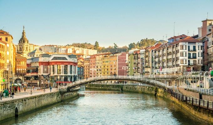 utsikt over gamlebyen i Bilbao