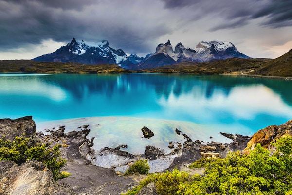 Patagonia, Chile - Torres del Paine, i det sørlige Patagoniske isfeltet, Magellanes-regionen i Sør-Amerika
