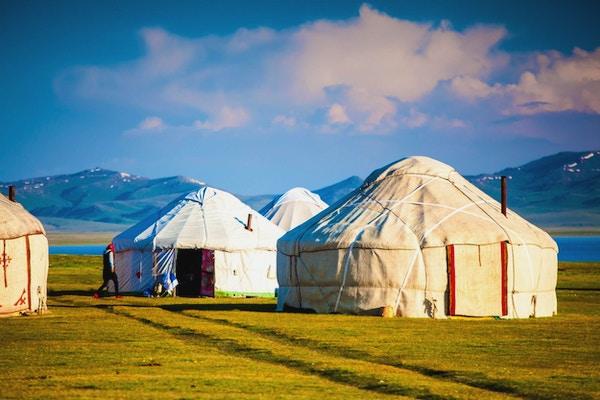 Tradisjonelle telt i Kirgisistan