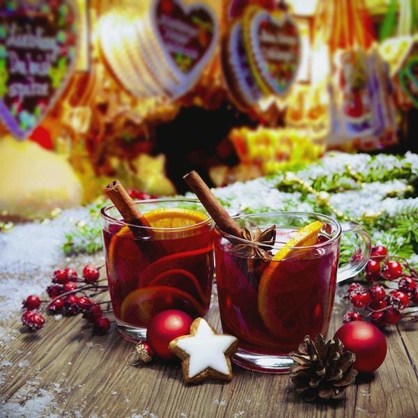 To glass gløgg på tysk christkindl markt