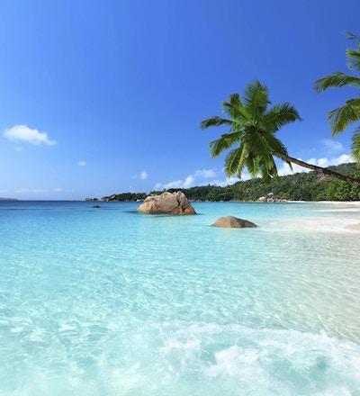 Anse Lazio-stranden ved Praslin-øya, Seychellene