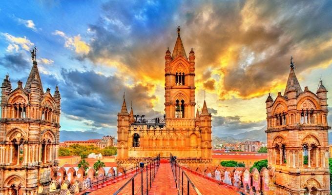 Palermo katedral, et UNESCOs verdensarvsted på Sicilia - Italia