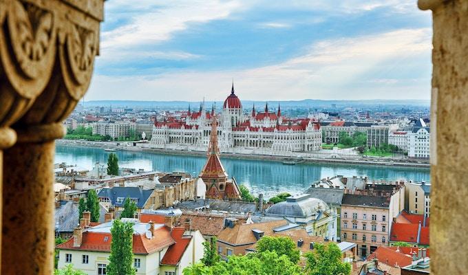Parlamentbygningen i Budapest