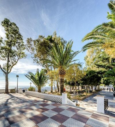 Observasjonsdekke i Mijas. Mijas er en nydelig andalusisk by, et av juvelene på Costa del Sol. Spania