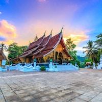 Wat Xieng Thong (Golden City Temple) i Luang Prabang, Laos. Xieng Thong-tempelet er et av de viktigste klostrene i Lao.