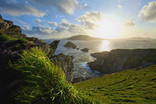 Oversiktasbilde over Blasket Islands ved Dingle.