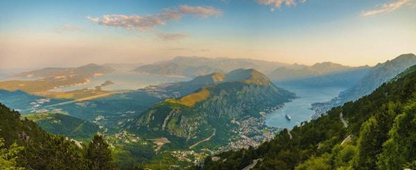 Kotor-bukten sett ovenfra, Montenegro