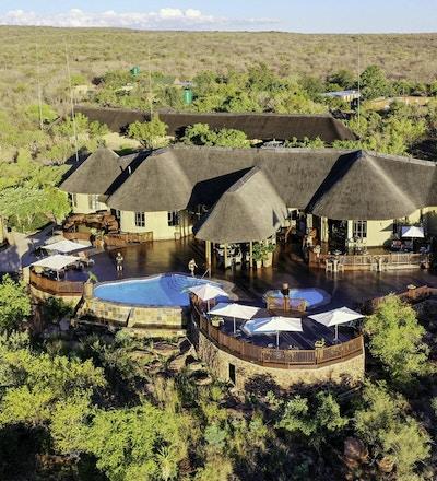 Utsikt over Sebatana Lodge