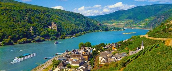 På elvecruise på Rhinen