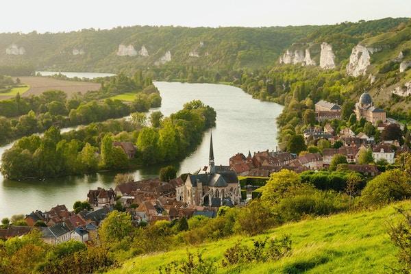Les Andelyskommunen på bankene ved Seinen, Øvre Normandie