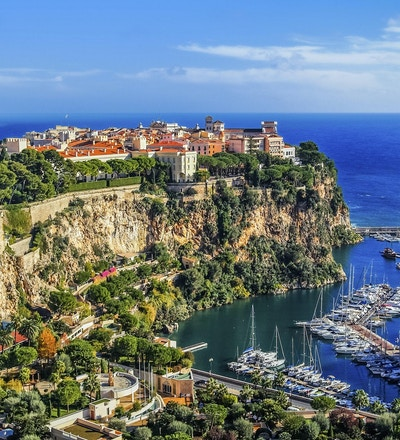 Utsikt over Monte Carlo i fyrstedømmet Monaco i Sør-Frankrike