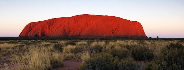 Uluru er aboriginernes helligste fjell.