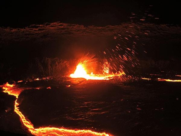 Dallol-vulkanen i Afar-ørkenen fremdeles aktiv og svært fargesprakende.
