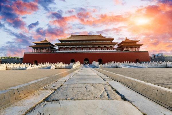 Den enrome keiserpalasset i Den forbudte by.