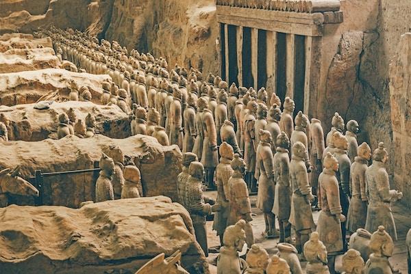 Leirestatuer av kinesiske soldater fra Qin-dynastiet
