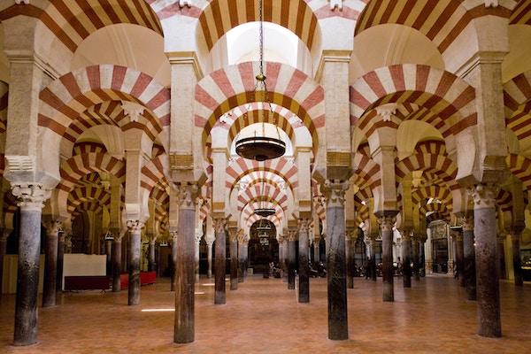 Unike La Mezquita-katedralen i Cordoba.