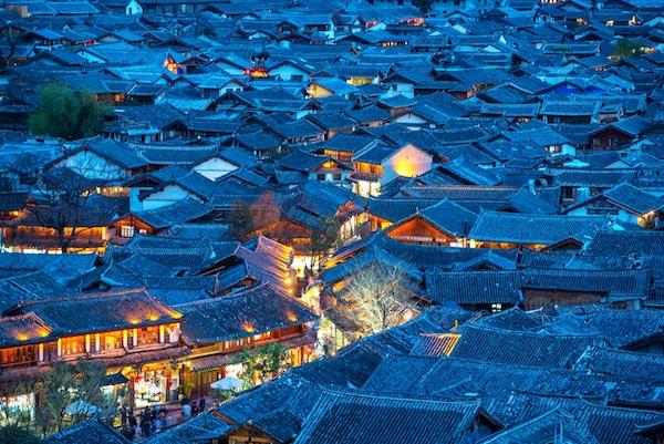 Lijiang gamleby, Kina