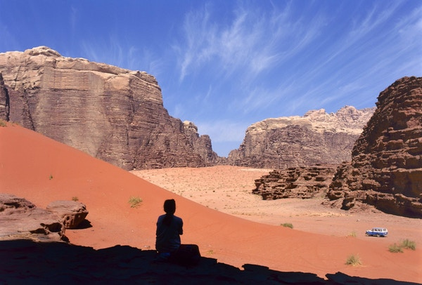 Four wheel drive in Wadi Rum desert, Jordan