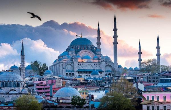 Den blå moské i Istanbul, Tyrkia,