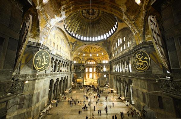 Hagia Sophia-kirken i Istanbul.