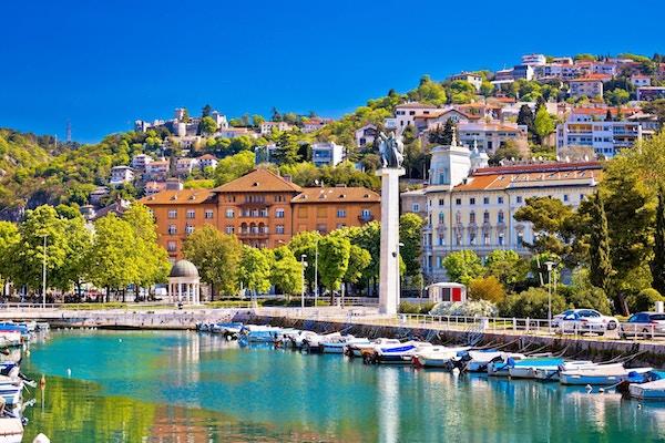 Havnepromenade i Rijeka, Kroatia.