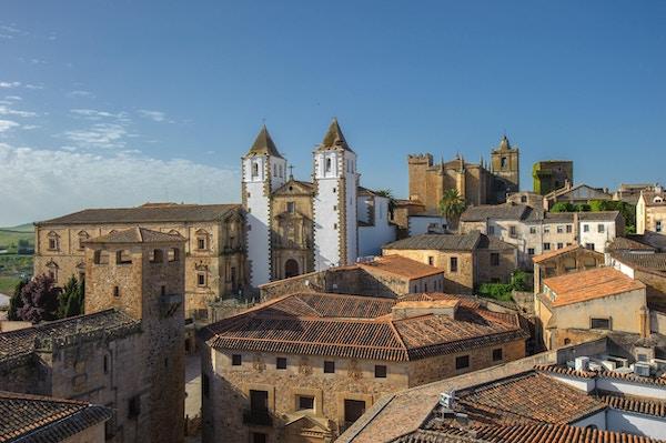 Gamlebyen i Caceras, Spania.