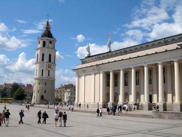 Katedralen i Vilnius i dagslys.