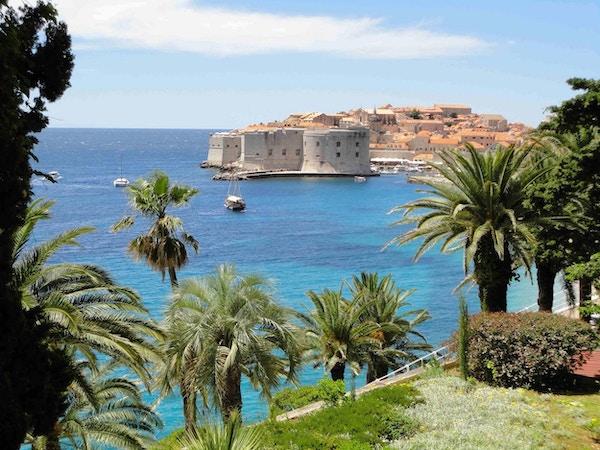 Havnen i Dubrovnik, Kroatia.