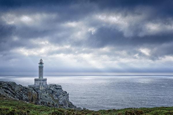 Punta Nariga fyr, Galicia nordvest i Spania.