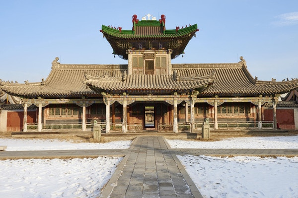 Vinterpalasset Bogd Khan i Ulan Bator.