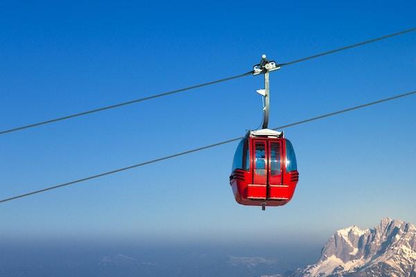Skiheis i europeiske alper. I Hohe Salve, Østerrike.