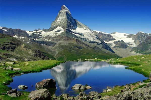 Fjellkjeden Matterhorn i Sveits.
