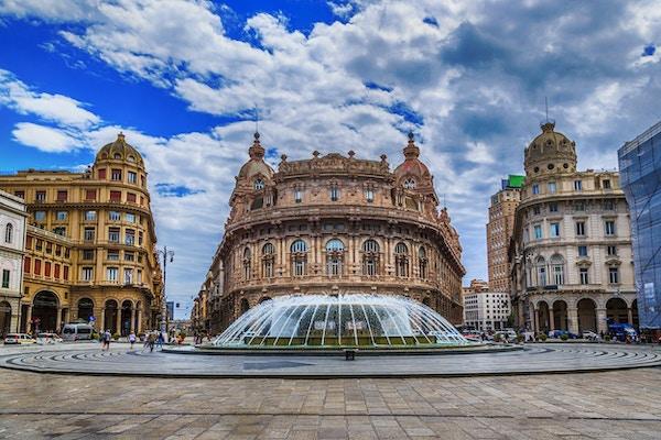 Piazza De Ferrari i Genova, Italia.