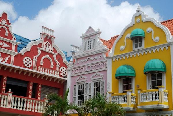 Hus i Oranjestad, Aruba.